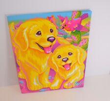 1990s Lisa Frank Casey & Caymus Puppy 3 Hole Punch 2 Pocket Folder