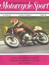 Motorcycle Sport Magazine December 1976 - Honda CB500-4 1926 Sunbeam CB500 Four