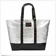 VICTORIA'S SECRET LIMITED EDITION METALLIC SILVER WEEKENDER TOTE BAG 2017 NWT