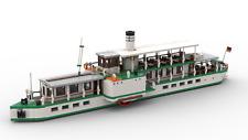 PDF-Anleitung Sächsisches Dampfschiff Schiff Unikat MOC Bau aus LEGO©-Steinen