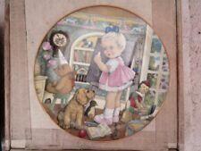 "Franklin Mint - Porcelain - Carol Lawson's "" Teacher's Pet "" Plate In Box"