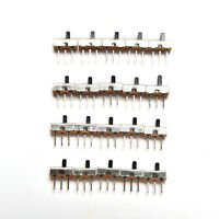 20 STÜCKE SS12D00G3 2 Position SPDT 1P2T 3 Pin PCB Panel Schiebeschalter AHS