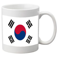 South Korea Flag Ceramic Mug. 11oz Mug, Great Novelty Mug.