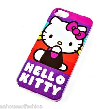Hello Kitty Rainbow Stripe Cover for iPhone 5 and 5s New
