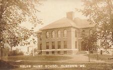 Old Town ME Helen Hunt School 1916 Real Photo Postcard