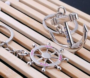 Schlüsselanhänger Karabiner Schlüsselring Couple Paar Anker Best Friends Love