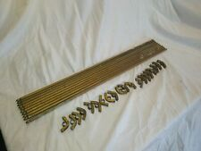10 Antique Brass Stair Rods and clips.