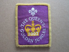 The Queen's Golden Jubilee 2002 Woven Cloth Patch Badge Boy Scouts Scouting