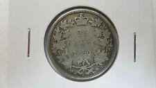 Canada 25 Cents Quarter Dollar, 1880 wide O, VG, Key Date