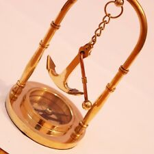Brass table compass with Anchor antique hanger style