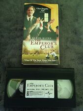 The Emperor's Club (2002) - VHS Video Tape - Drama - Kevin Kline - Emile Hirsch