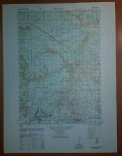 1940's Army Topo Map Millston Wisconsin  2872 II Camp McCoy