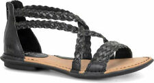 B.O.C. Born Concept CANDEE Black Braided Leather Strappy Sandals Sz 10 M
