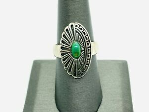 Carolyn Pollack Sterling Silver Green Turquoise Southwestern Ring