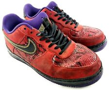 Nike Air Force 1 Low 2013 Year Of The Snake 555106-600 Men Sz 10.5 Sneaker