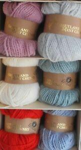 Jarol Shetland Chunky 100g Ball Acrylic/Wool/Viscose Max P&P £2.80