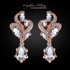 Ohrhänger Luxus Ohrringe Zirkonia AAA Swarovski-Kristalle STELLUX™ Rosé-gold 18K