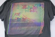 AMERICAN EAGLE Bird Seagull Print Graphic Pocket V Neck T-Shirt Adult S Medium