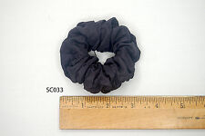 Silk Scrunchies Ponytail Holder Elastic Ties Hair Band Charcoal Gray SC033