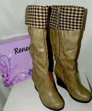 RENEEZE FASHION WEDGE BOOTS ANN-01 NWB KHAKI SIZE 10