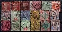 P131938/ GREAT BRITAIN / VICTORIA & EVII / LOT 1858 - 1902 USED - CV 495 $