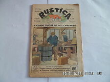 RUSTICA N°16 18/4/1937 CONSTRUIRE UN EXTRACTEUR CENTRIFUGE CHICORE A CAFE  G14