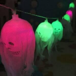 Halloween 2.5M LED Skull String Light Hanging Lamp Creepy Home Party Decor Props