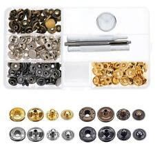 40 Set Leather Craft Snap Fasteners Snaps Button Studs Fixing Tools DQUS