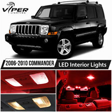 2006-2010 Jeep Commander Red LED Lights Interior Package Kit
