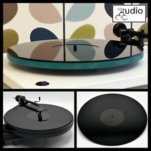 Gloss Black Acrylic Turntable Platter Mat. Fits REGA, THORENS Record Players