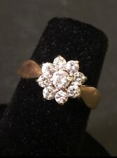 LADIES 14KYG DIAMOND 0.50CTW FLOWER CLUSTER RING