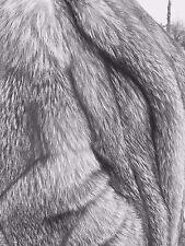 Gorgeous Indigo Fox Full Length Fur Coat - Excellent Condition $899.00