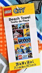 """2014 LEGO CITY Beach Towel 28"""" x 58"""" Bath Pool"""
