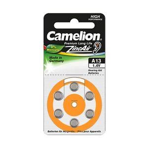 Piles boutons auditive Camélion A13 0% mercure, livraison rapide et gratuite