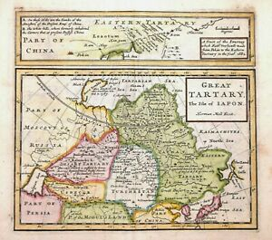 TARTARY - JAPAN - GREAT TARTARY AND THE ISLE OF JAPON BY H.MOLL 1723