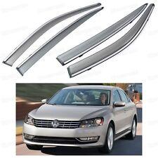 Front & Rear Window Visor Deflectors Vent Shade for Volkswagen Passat 2012-2015