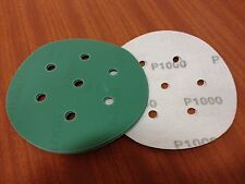 "P1000 velcro abrasive discs   150mm 7 hole  Pack (15)    6"" Sanding Film Pads"