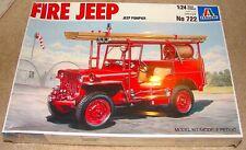 1/24 Italeri Kit 722 Red Fire Jeep Original Shrink Wrap Issued 1987 Testors Dist