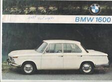 N°11319 / BMW 1600 berline  prospectus en français 1965