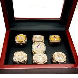 Lakers Ring Championship Ring 7pc With Box
