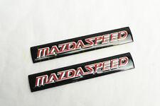 2PCS ALUMINUM BLACK MAZDA SPEED CAR BOTH SIDES STICKER BADGE DECORATION EMBLEMS