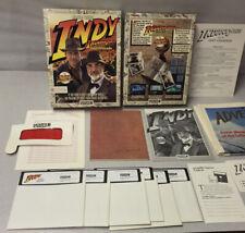 Indiana Jones and the Last Crusade 1989 Ibm Pc 5.25 Disks Box Lucasfilm Game