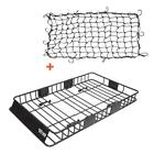 Universal Roof Rack Cargo Basket 250lbs Capacity Net For Truck Suv Off-roader