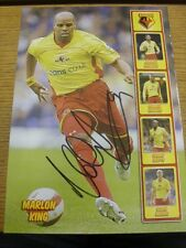 90-2000's Autographed Magazine Picture A4: Watford - King, Marlon. We try and in