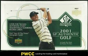 2001 SP Authentic Golf Factory Sealed Hobby Box 24ct Tiger Woods ROOKIE RC AUTO?