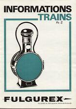 catalogo FULGUREX 1972 Informations2 Trains HO O Tenshodo KTM Westside   D F  aa