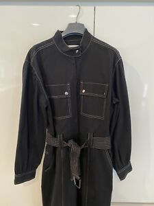 Witchery Cargo Cotton Jumpsuit (Black) - Size 12 - BNWOT **Current Style**