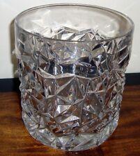 "TIFFANY & CO  Crystal Rock Cut  CHAMPAGNE/WINE  6-3/4""  ICE BUCKET"