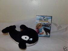 "HTF 9"" Dakin 1995 FREE WILLY Plush Whale & Escape from Pirate's Cove DVD Bindi ^"