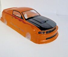 Pre-Painted RC Body 1/10th Scale Mustang HPI Losi Traxxas Kyohso Ford Orange
